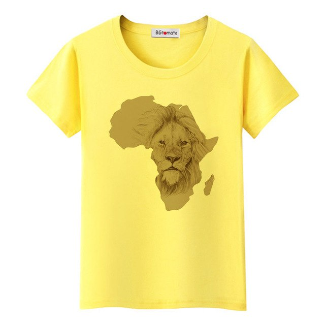 South Africa map cool tshirt creative design African lion fashion t-shirt women good quality comfortable tops tees p05271 / 4XLBuy mate