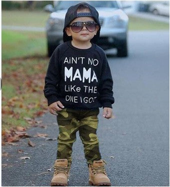 Toddler Newborn Baby Boy Girl Camo T-shirt Tops Pants Outfits Set Clothes  p2590Black / 100cmBuy mate