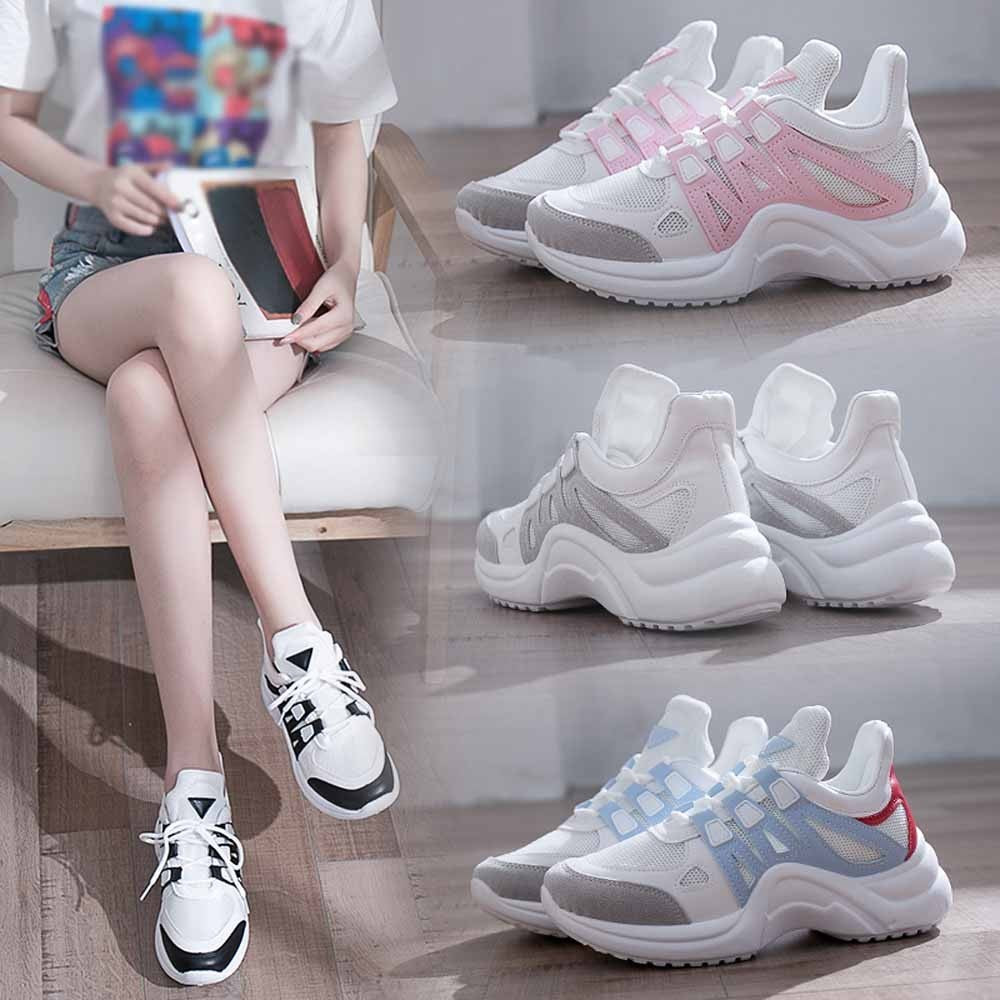 Women Shoes Fashion Sneakers Lace Up Soft High Leisure Footwears
