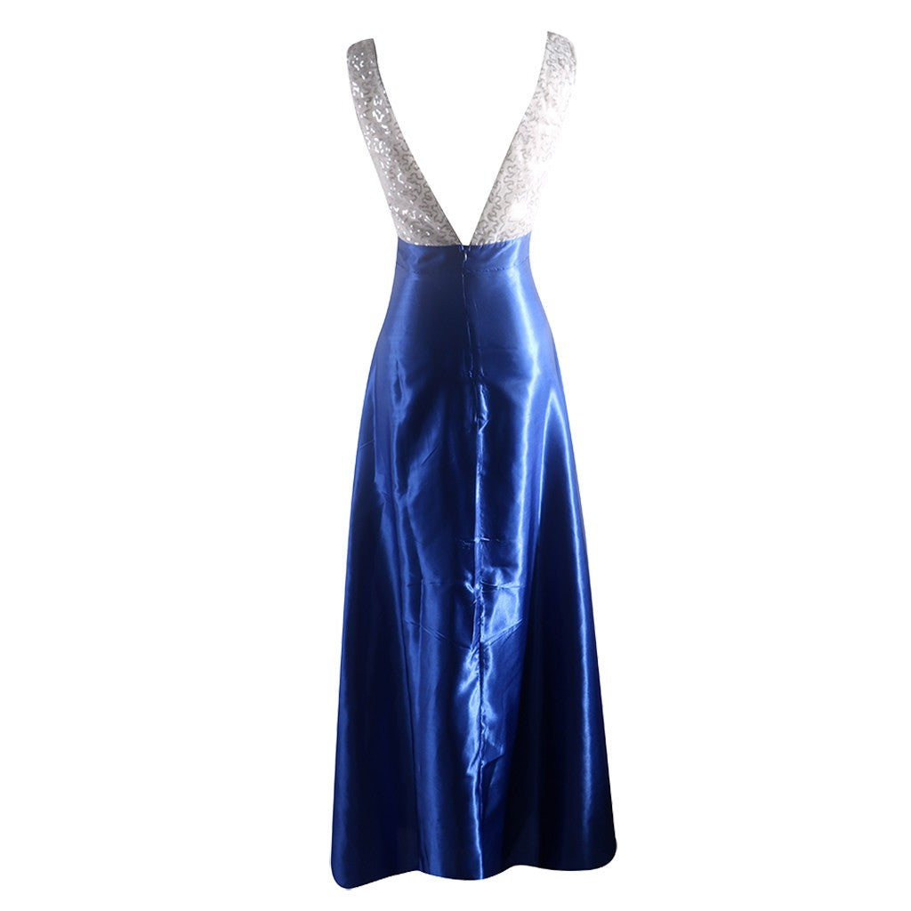 Women  Sleeveless V Neck Wedding Dress  Elegant Party Evening Slim  Maxi Dresses P3711Buy mate