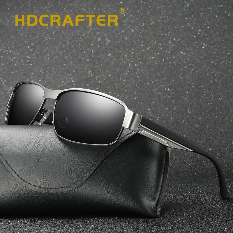 Polarized Sunglasses Men Square Brand Designer Male Vintage Sunglasses Rectangle Driving Glasses p6095