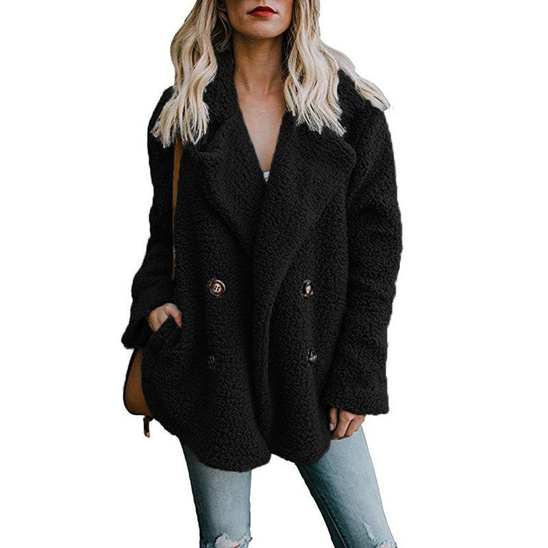 Fashion Women Winter Coats Solid Long Sleeve Outercoat