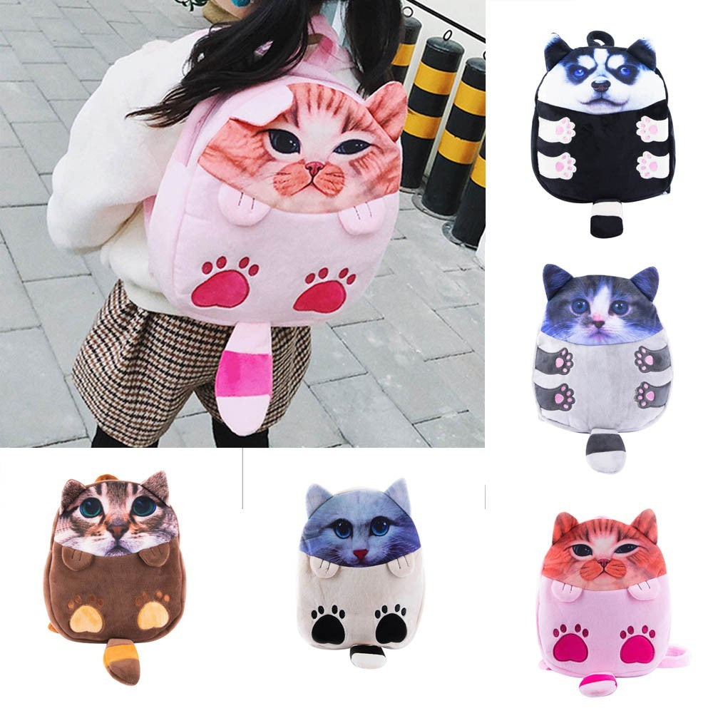 Kids Cartoon Cat Backpack Kindergarten Children Cute School Bag Baby Schoolbag p2667