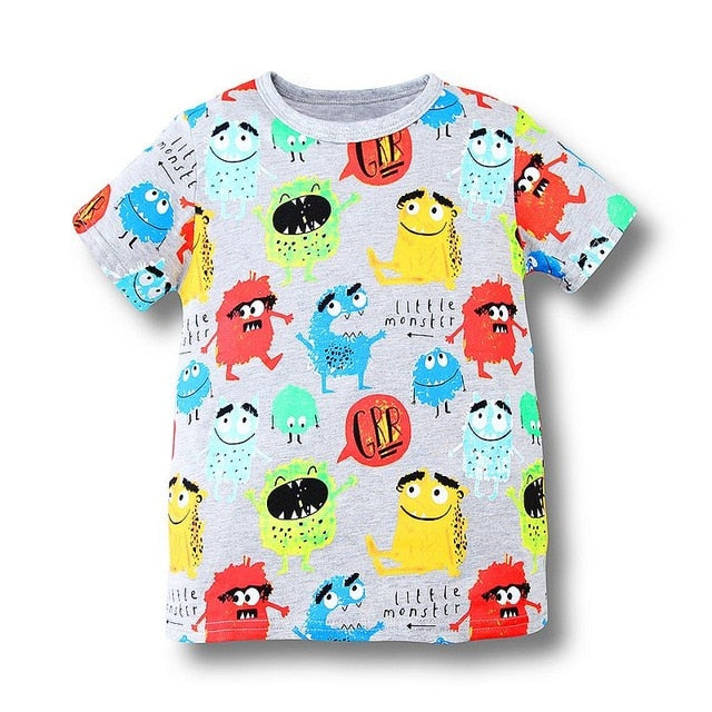 Boys Tops Summer Brand Children T shirts Boys Clothes Kids Tee Shirt Fille 100% Cotton Character p255982 / 6Buy mate