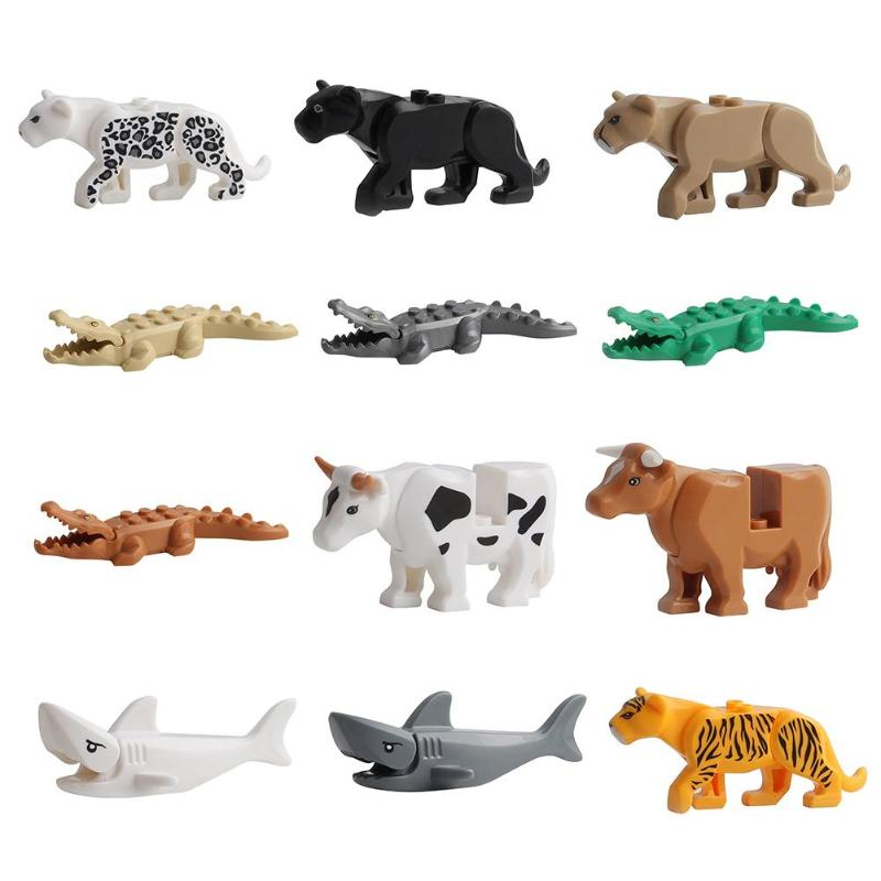 10 types Animal Building Blocks  Models Educational toys Kids Toys