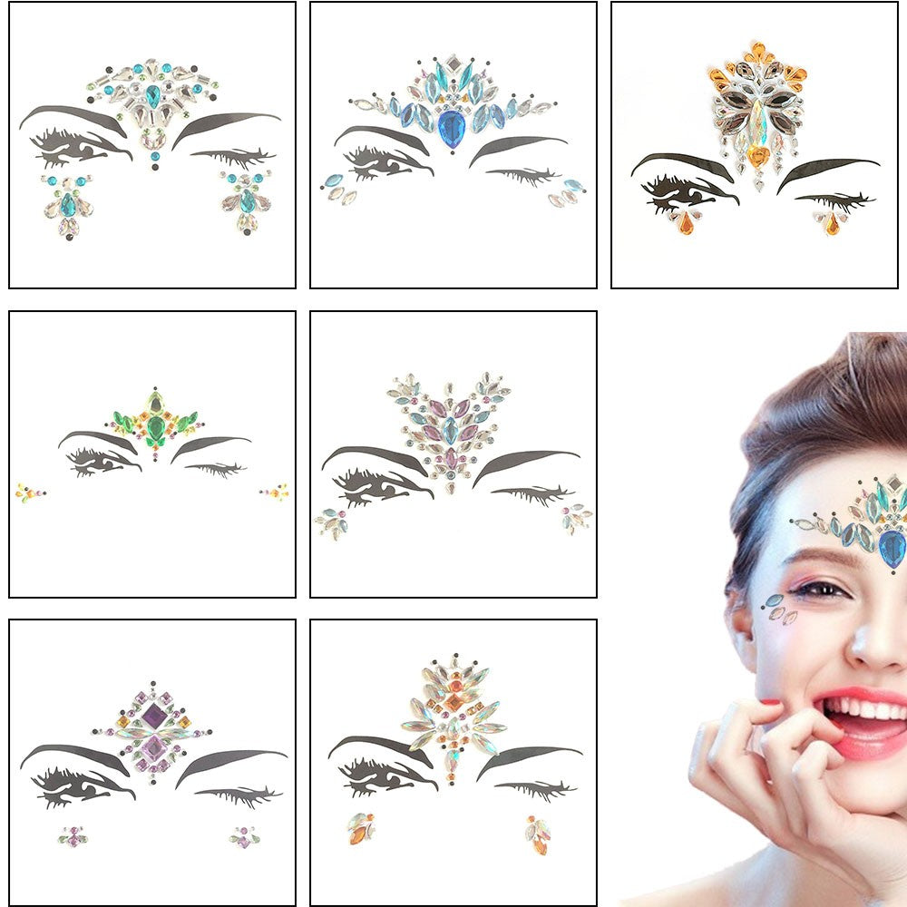 Temporary Tattoo Easy To Operate Face Fashion DIY Tattoo Stickers Party Body Glitter Stick p3284Default TitleBuy mate