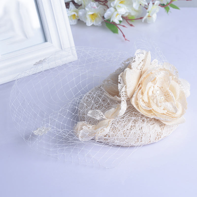Bridal Fascinator Face Veils Feather Flower with Hairpin p3655Buy mate