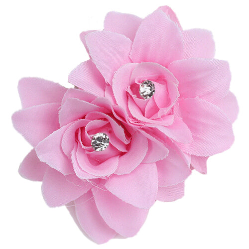 Fashion Flower Hair Clip Hairpin Bridal Wedding Party Hair Accessories Pink p3672Buy mate