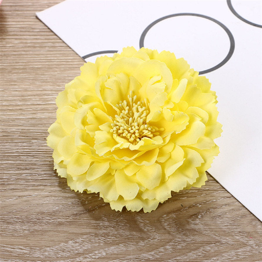 bright yellow Flower Hair Clips Wedding Bridal Bridesmaid Festival Hairpin Brooch p3671Buy mate