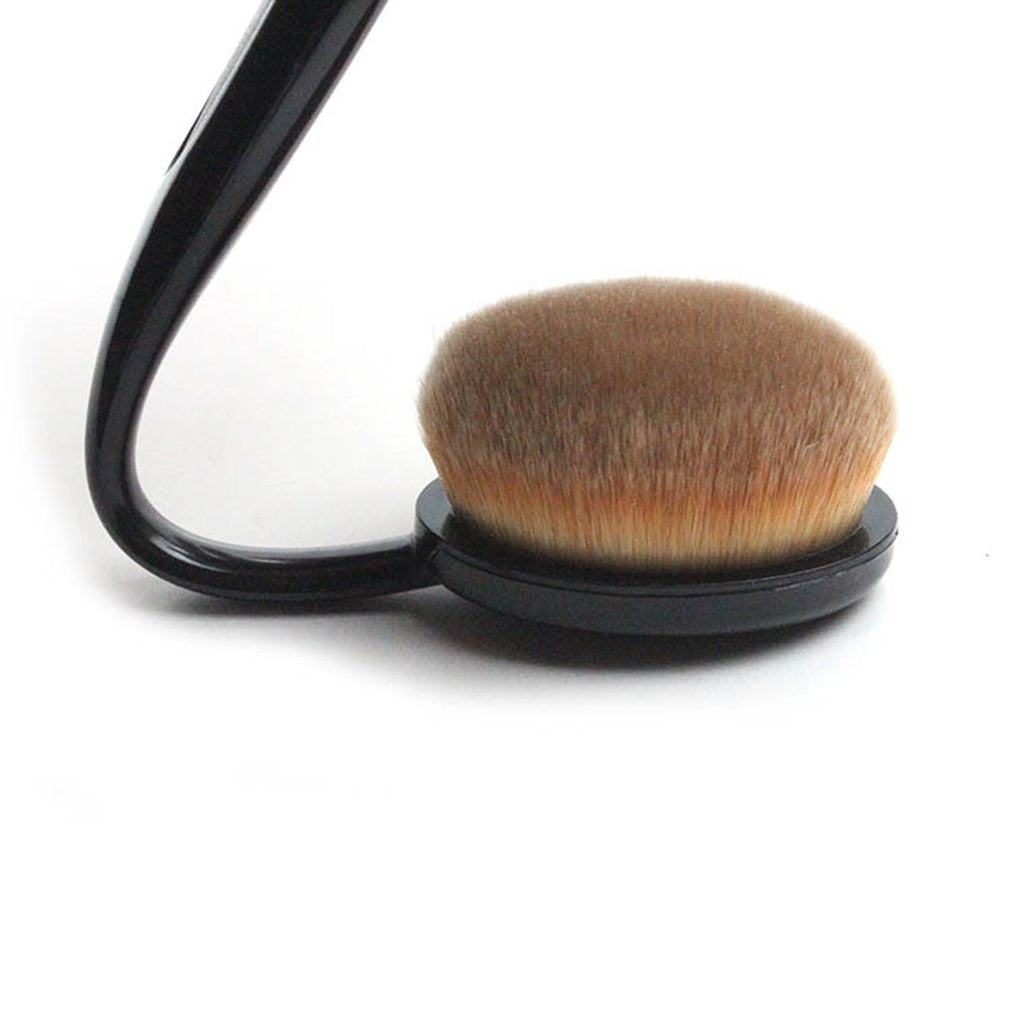 Women Face Powder Foundation Eye Shadow Blush Soft Hair Creative Toothbrush Shape Curve Brushes p3880Buy mate