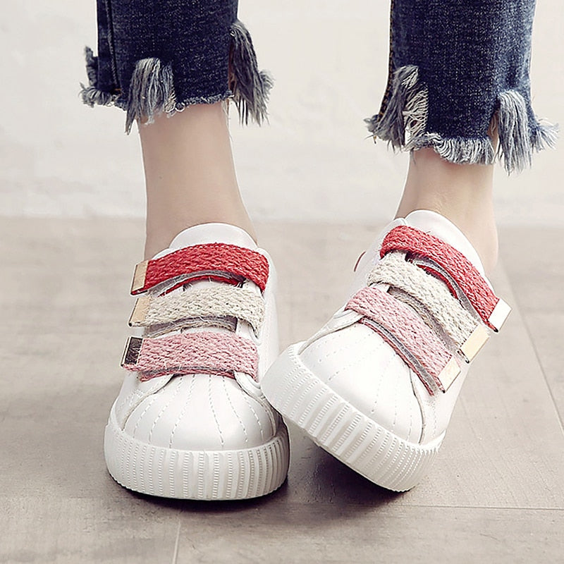Women's shoes flat shoes high quality fabric round toe sewing