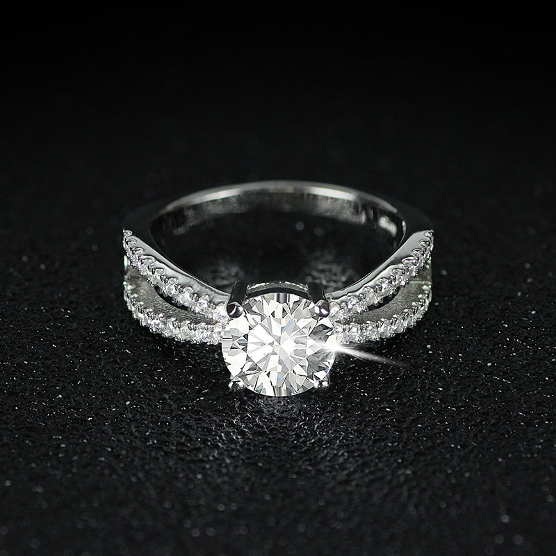 R4322S -  TWLLE Jewelry - Affordable Sterling Silver Wedding Engagement Ring in Nigeria