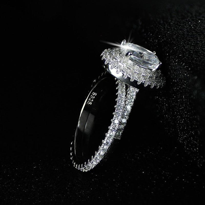 R4410S -  TWLLE Jewelry-- Affordable Brand for Sterling Silver Jewelry - Affordable Sterling Silver Wedding Engagement Ring in Nigeria