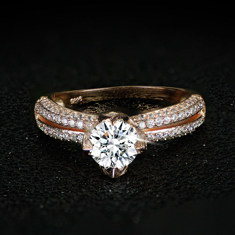 r4417s -  TWLLE Jewelry-- Affordable Brand for Sterling Silver Jewelry - Affordable Sterling Silver Wedding Engagement Ring in Nigeria