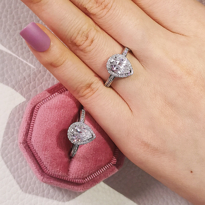 925 Sterling Silver Imitation Gemstone the Rings for Women Wedding anel aneis Jewelry Fashion R603S