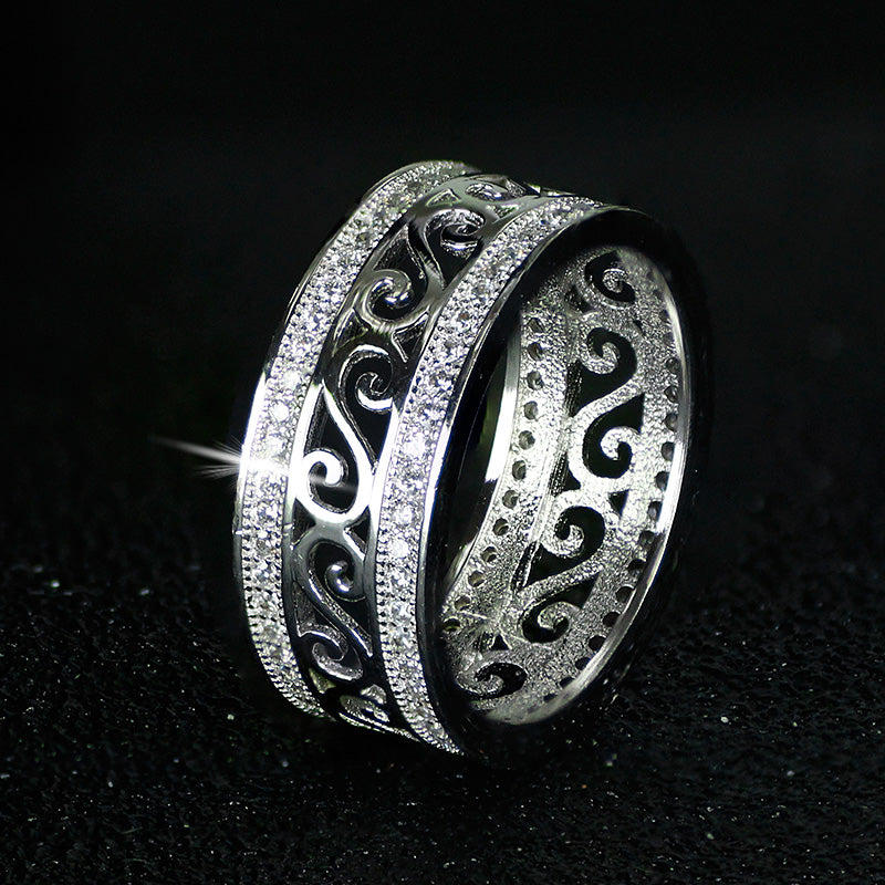 R879S -  TWLLE Jewelry - Affordable Sterling Silver Wedding Engagement Ring in Nigeria