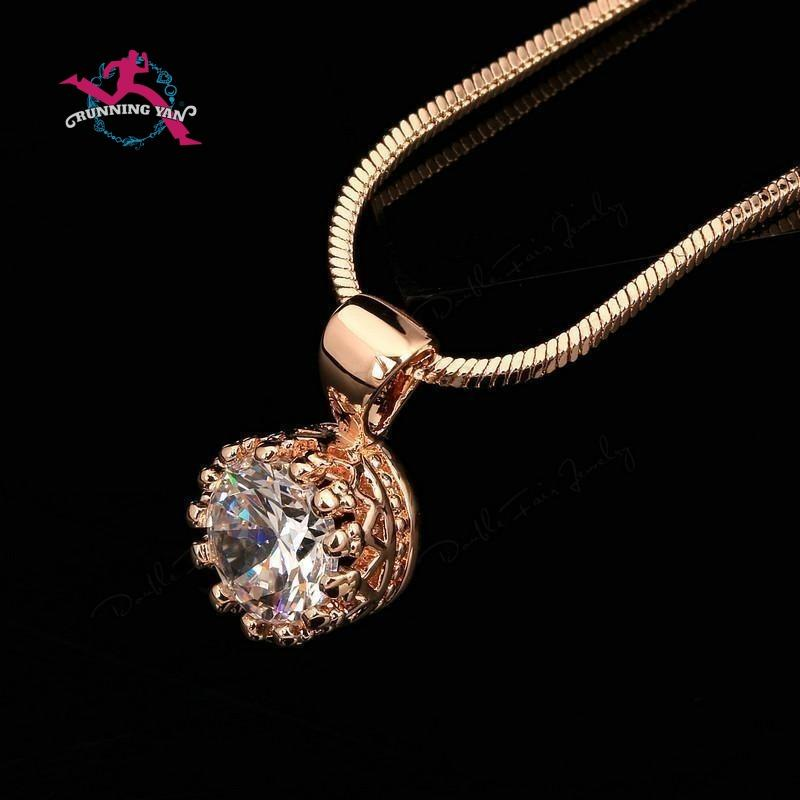 Cubic zirconia pearl pendant necklaces running yan crown cubic zirconia pendant necklaces aloadofball Gallery
