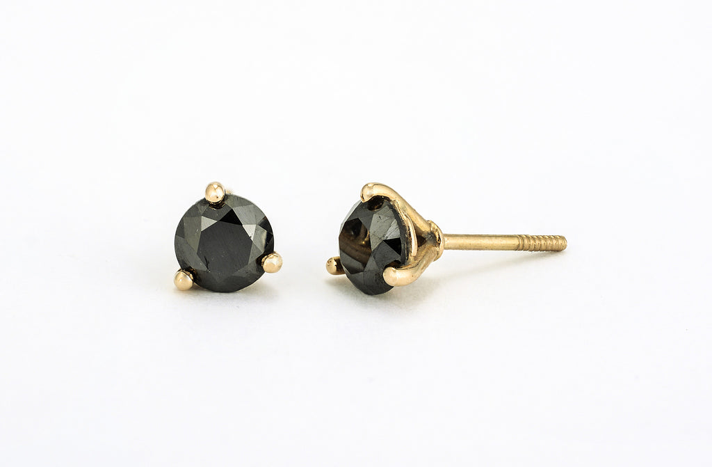 Black Diamond Earrings