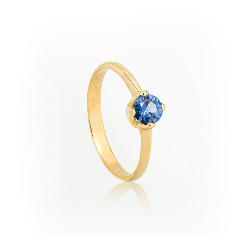 SJK Rocks - Crown Blue Sapphire Stacking Ring