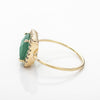 Green Onyx Gold Square Sparkle Ring