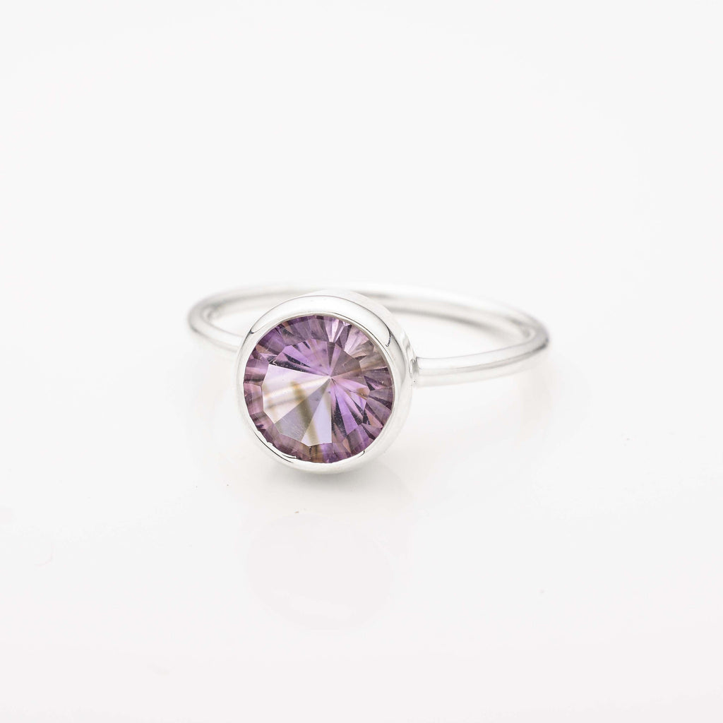 Amethyst Encased Stacking Ring