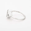 White Quartz Encased Stacking Ring