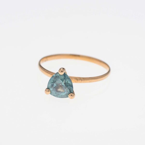 Green Topaz Stacking Ring