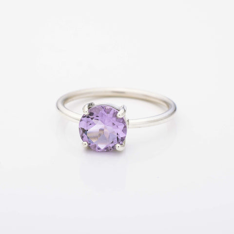 Circle Amethyst Stacking Ring