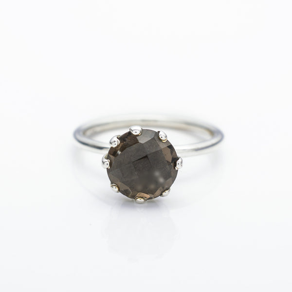 Smokey Quartz Claw Stacking Ring
