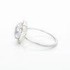 White Quartz Oval Sparkle Ring