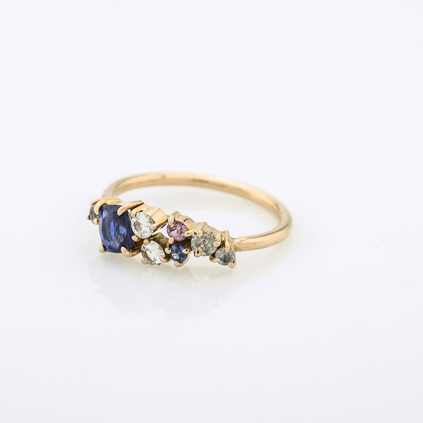 Scatter Sparkle Sapphire Ring