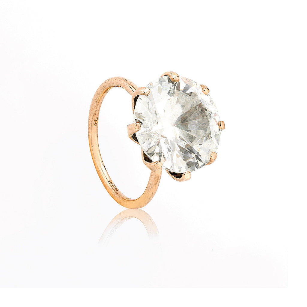 SJK Rocks - Diamond Cut Zircon Cocktail Ring