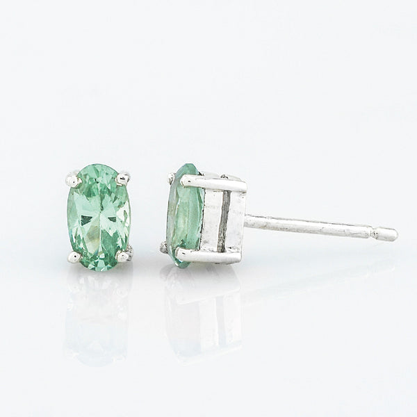 SJK Rocks - Green Fluorite Stud Earrings