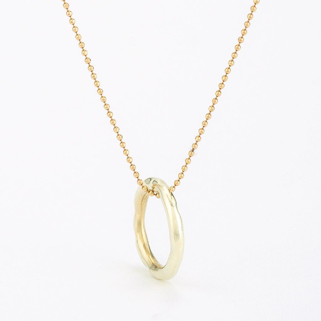 SJK Rocks - Hammered Gold Circle Pendant