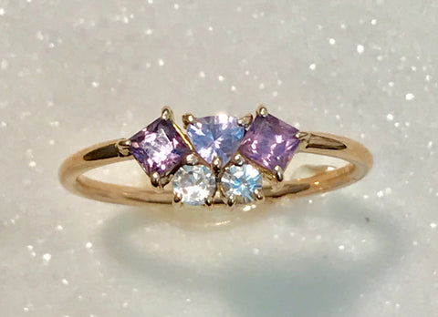 Scatter Purple Haze Sparkle Ring