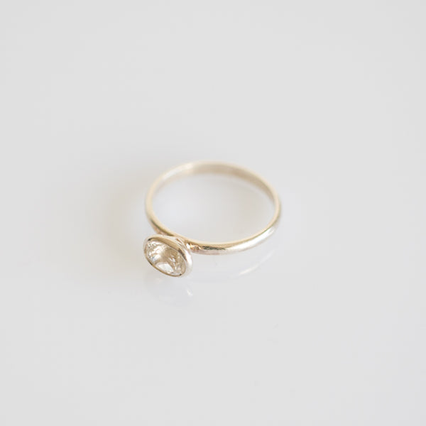 Oval Silver Stacker Ring