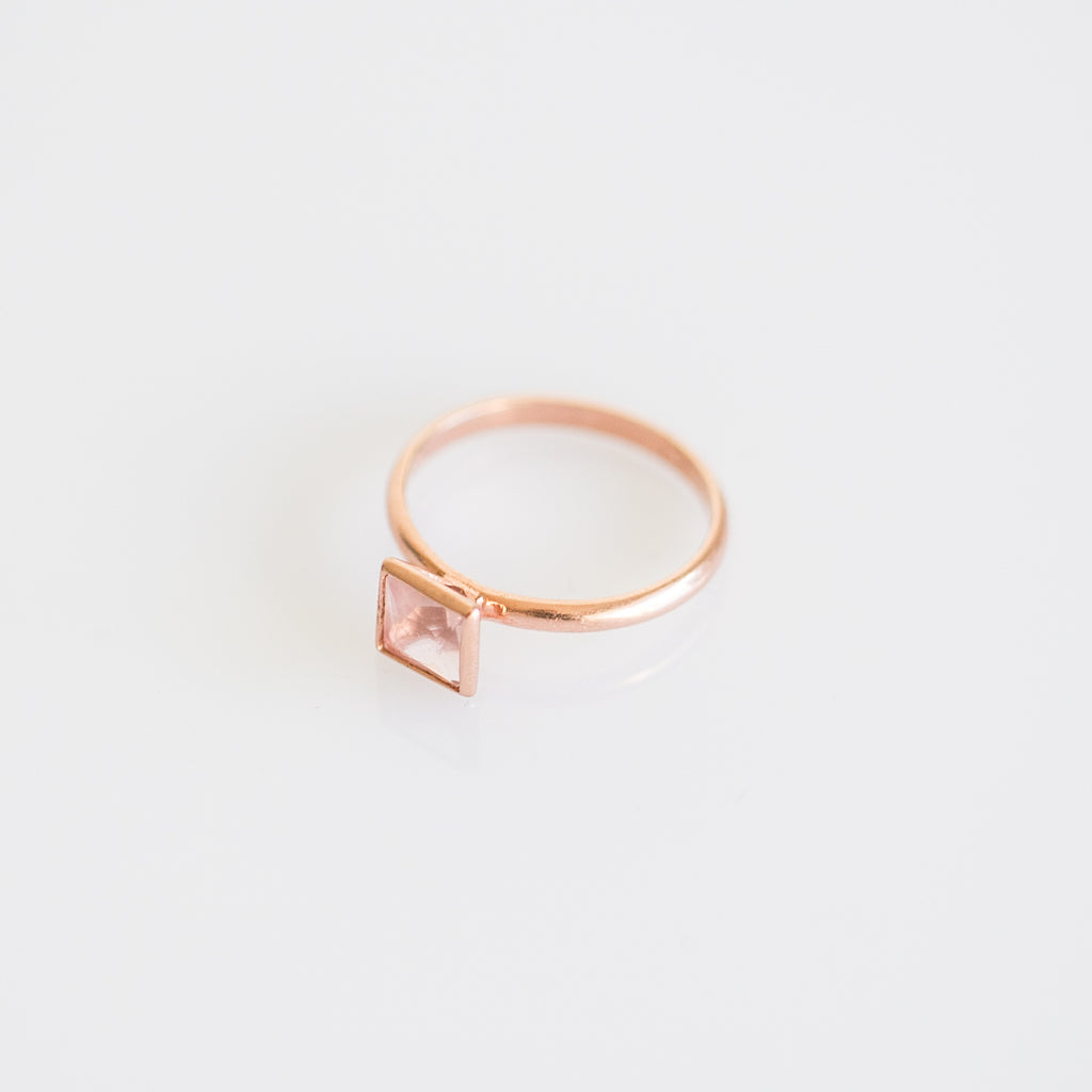 Square Silver Stacker Ring