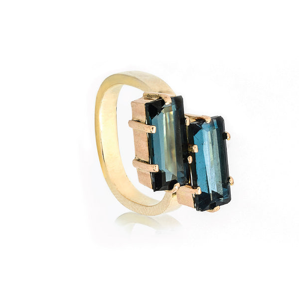 SJK Rocks - London Blue Topaz Cocktail Ring