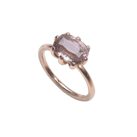 SJK Rocks - Morganite Stacking Ring