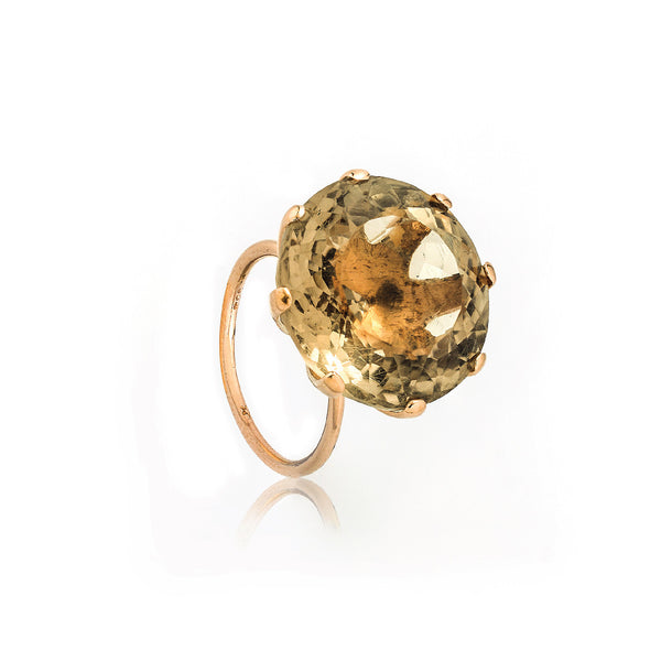 SJK Rocks - Pale Smokey Quartz Cocktail Ring