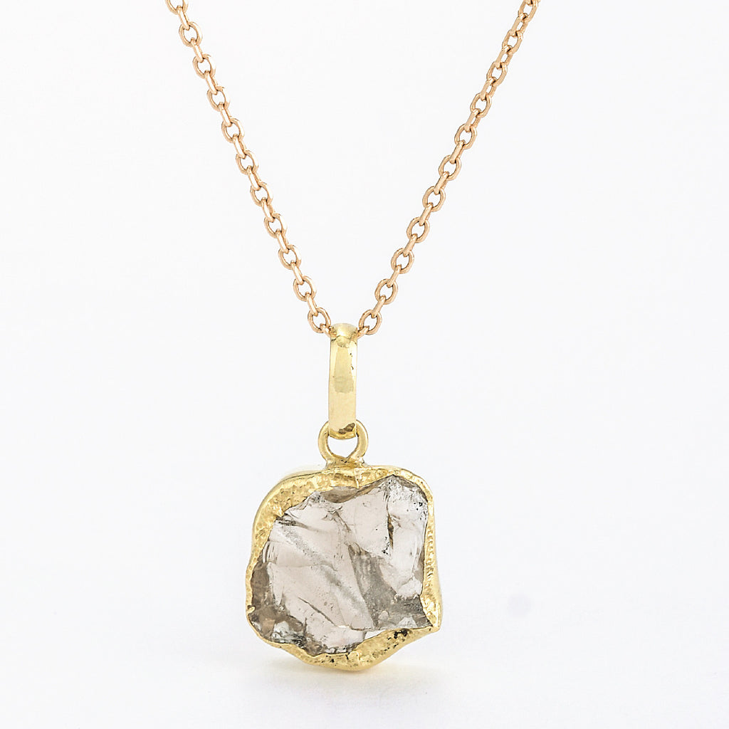 SJK Rocks - Raw Cut Smokey Quartz Pendant