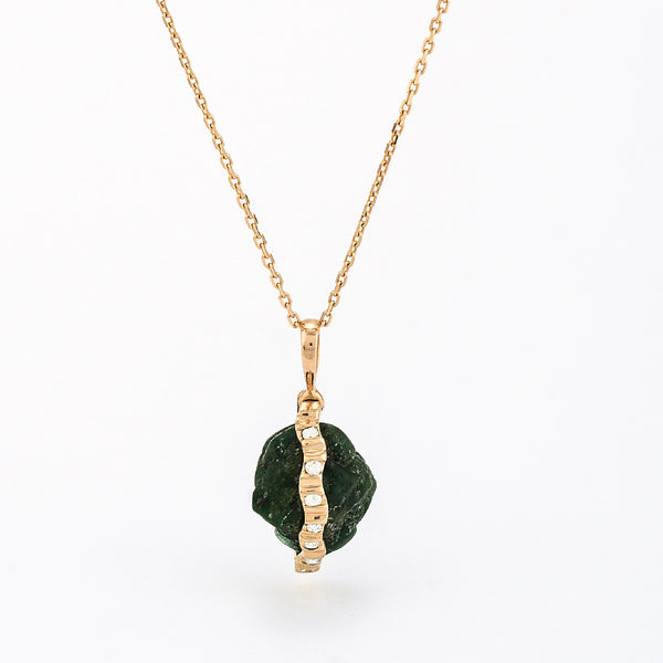 SJK Rocks - Raw Emerald Pendant