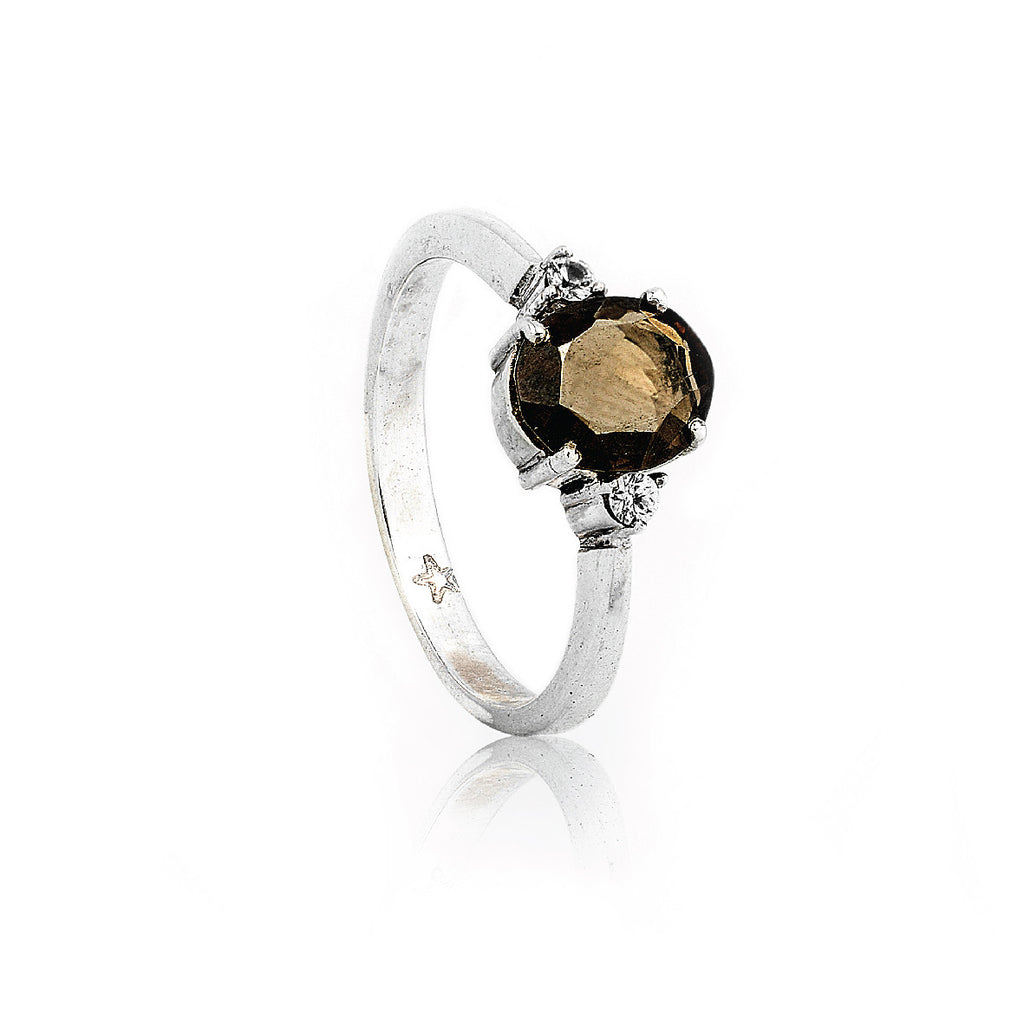 SJK Rocks - Smokey Quartz Stacking Ring