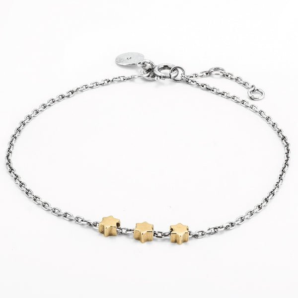 SJK Rocks Star Bracelet - Silver & Gold