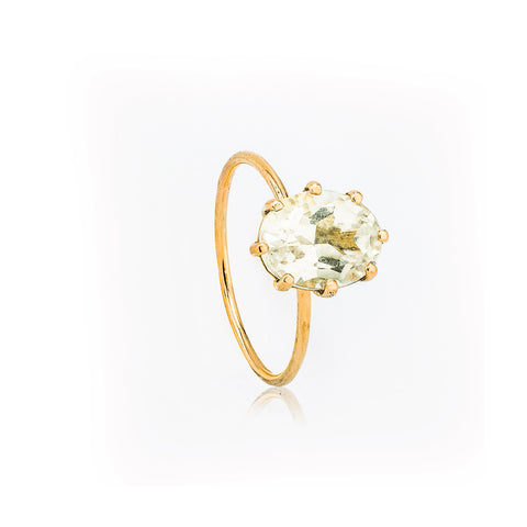SJK Rocks - White Quartz Stacking Ring