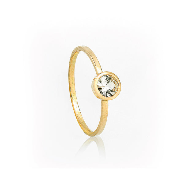 SJK Rocks - White Sapphire Stacking Ring