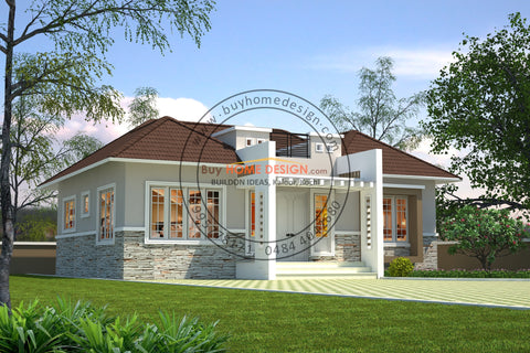 Traditional - 2 BHK Villa Design - 970 sqft - Home design for any budget, [Product_type] - Villa elevations, PACKAGE INCLUDES: Floor plans, 2D elevation & 3D views - Buildon Ideas, BuyHOMEDESIGN.com - buyhomedesign.com