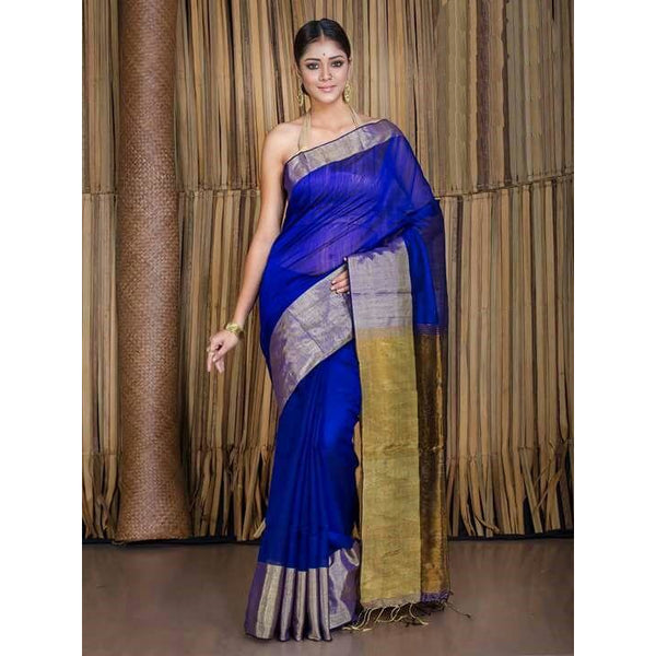 Royal Blue Banarasi Nimzari Saree