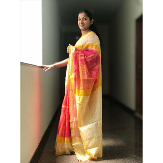 Printed Chanderi Saree
