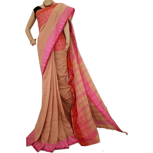Sandal Cotton Saree